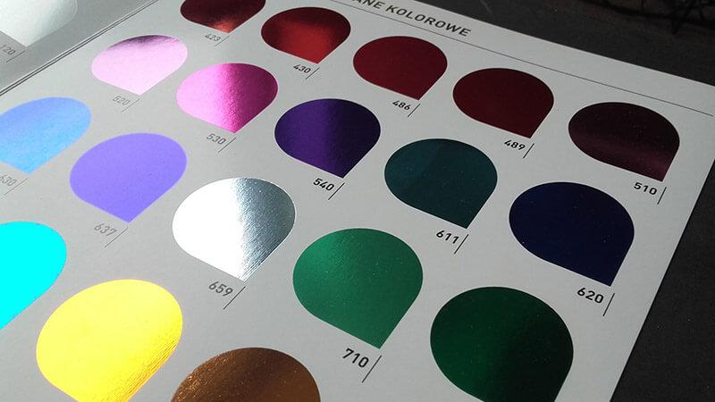 kolorowe metaliczne folie hot print