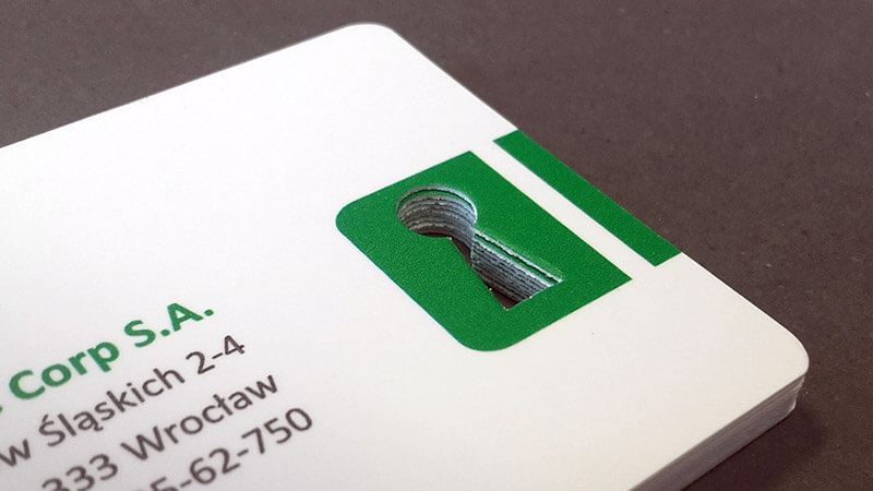 wykrawanie obiektów - kluczyka w wizytówce