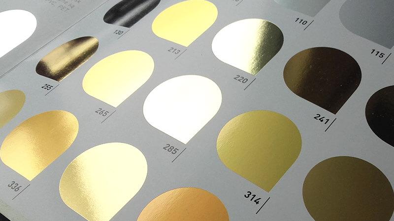złote  metaliczne folie hot print